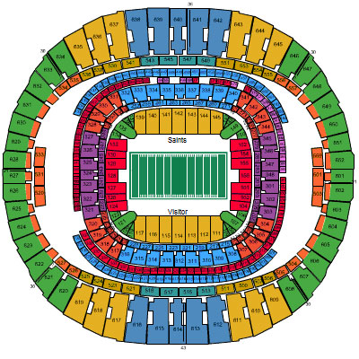 Diagram superdome football seating engine auto parts for Mercedes benz dome atlanta seating chart